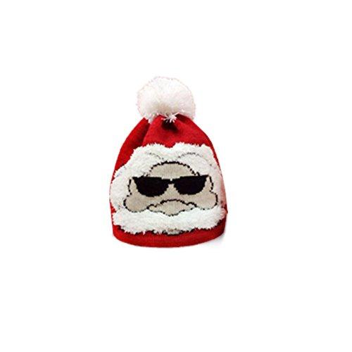 Noel de wlgreatsp Adulto Navidad Cálido Papá Graciosa Niños Sombrero Gorro bebé Tejer Padre w10U0qPHx