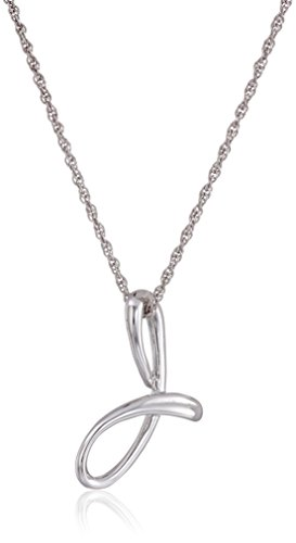 Sterling Cursive Initial Pendant Necklace