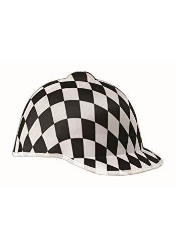 Forum Jockey Adult Black Checker Racer Hat Adult One -