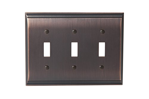 - Amerock BP36502ORB Candler 3 Toggle Wall Plate - Oil-Rubbed Bronze