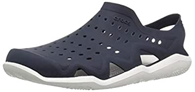 Crocs Men's Swiftwater Wave Shoe, Navy/White, M4