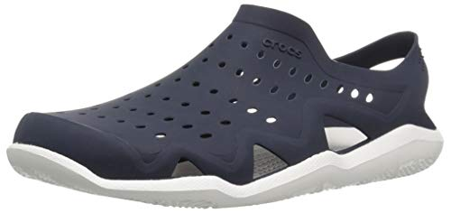 Crocs Men's Swiftwater Wave M Sport Sandal Navy/White 4 M US by Crocs (Image #1)
