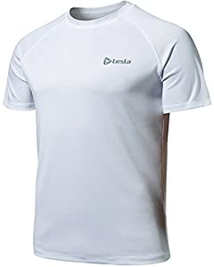 CLSL TM-MTS03-WWZ_Large Tesla Men's HyperDri Short Sleeve T-Shirt Athletic Cool Running Top MTS03