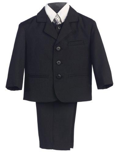5 piezas Traje Negro con camisa, chaleco y corbata - Talla M (9 ...