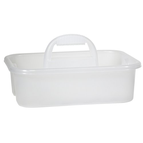 Handle Supply (Akro-Mils 09185SCLAR Plastic Tool and Supply Tote Caddy, Clear)
