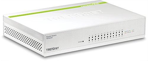 TRENDnet 24-Port Gigabit GREENnet Switch, QoS, 48 Gbps Switching Fabric, Fanless, Plug & Play, Half & Full Duplex, TEG-S24D
