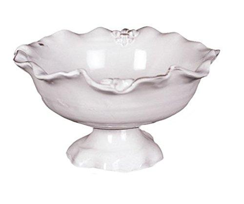 Abigails Fleur De Lis White Compote Dish