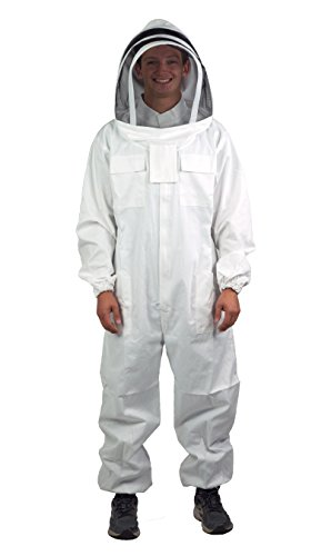 (VIVO Professional XL/XXL Cotton Full Body Beekeeping Suit with Veil Hood (BEE-V106XL) )