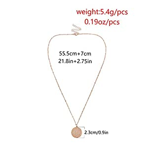 Gespout Hollow Pendant Necklace Elegant Retro Clavicular Chain Birthday Valentine's Day, gold, 28.5+7.5cm
