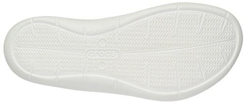 Crocs Swiftwater, Sandalias Flip-Flop, Mujer Gris (Smoke/White)