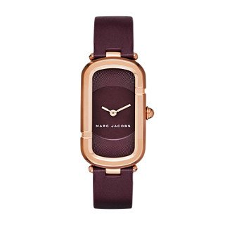 Marc Jacobs Women's The Jacobs Oxblood Leather Watch - MJ1483