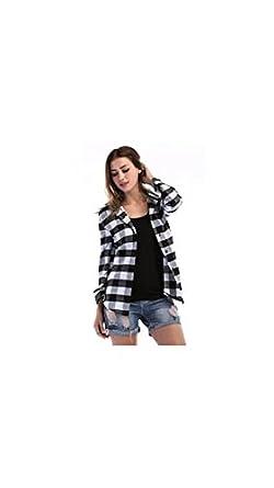 32b80e94bd9fb6 Raabta Fashion Women Shirt Black And White Check Shirt For Girl ...