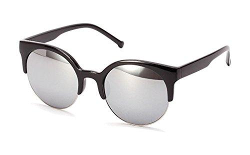 Half Rim (Allt Designer Inspired Classic Half Frame Horned Rim Wayfer Sunglasses)