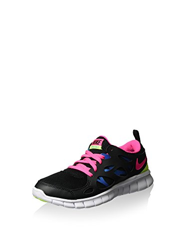 nike free run 2 (GS) running trainers 477701 sneakers shoes Black Pink Power Photo Blue Volt 010 free shipping huge surprise ORS42