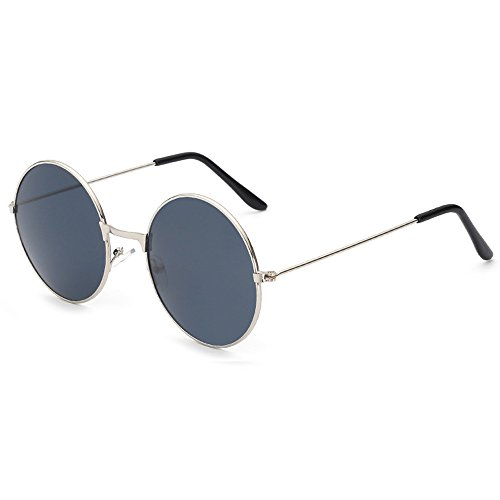 Round Sunglasses Retro Mirrored Lens Unisex - Kunis Mila Glasses