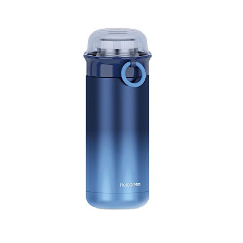 Anti-side leakage Sports Water Bottle Stainless Steel Gradient Transparent Cover Cup Insulated Vacuum Flask Water Terms Thermos