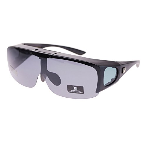 Barricade Large Mens Polarized Flip Up Fitover Sunglasses All - Guy Sunglasses