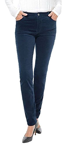 Buffalo David Bitton Womens Brushed Corduroy Skinny Jean (12 x 32L, Dark Blue)