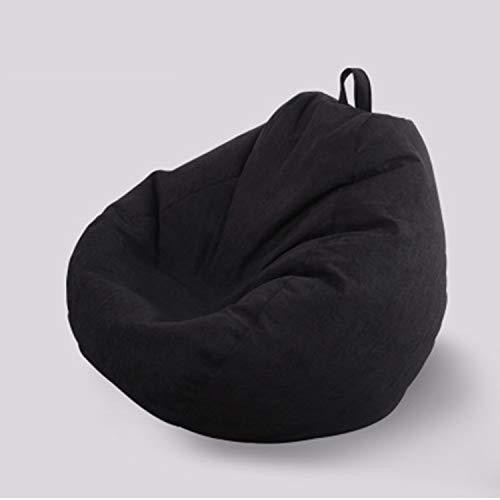 Sólido, de color sólido, bolsa de frijol, silla, sofá individual, sofá perezoso, lino de algodón: tamaño pequeño,...
