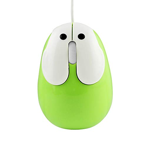 DIGIBLUSKY Animal Rabbit Shape USB Wired Mouse Optical Mini Small Kids Mice for PC Laptop Computer,1200DPI 3 Buttons with 3.6ft Cord (Mini Laptop Acer Windows Xp)