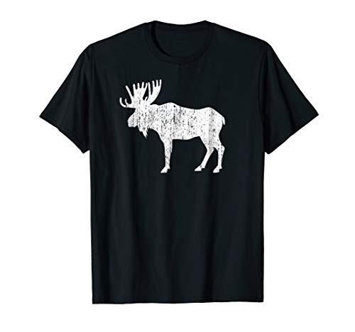 - Retro Vintage Distressed Moose T-shirt