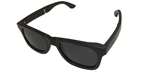 Ebony Bamboo Wood Folding Sunglasses With Black Polarized - Polarized Folding Sunglasses