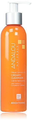 Andalou Naturals Meyer Creamy Lemon Cleanser, 6 oz, Helps Clean, Purify, Brighten & Even Skin Tone, With Vitamin - Natural Lemon