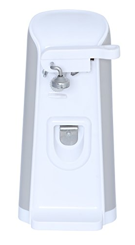 Brentwood 3in1 White Electric Can Opener with Built-in Bottl
