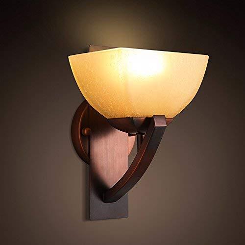 QSM Moderne minimalistische Innenwand-Leuchte, Retro- einzelner Kopf kreatives Schlafzimmer Bedide Balkon Retaurant-Lampen-Wohnzimmer-Wand-Lampe, 29.5Cm  20Cm, Hintergrund-Wand-Beleuchtung