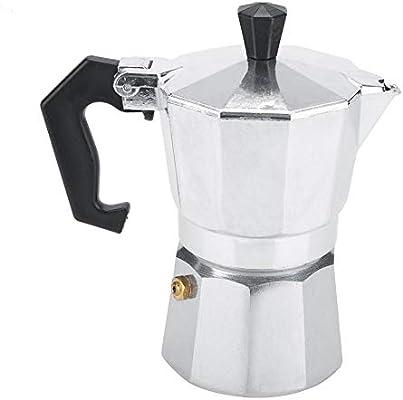 Mocha Pot, Aluminio Espresso Cafetera Estufa Uso de la oficina en el hogar 2 tazas: Amazon.es: Hogar