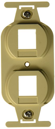 Duplex 106 Wall Plate Insert - C2G/Cables to Go 03722 Duplex 2-Port NEMA 106 Decora Style Wall Plate