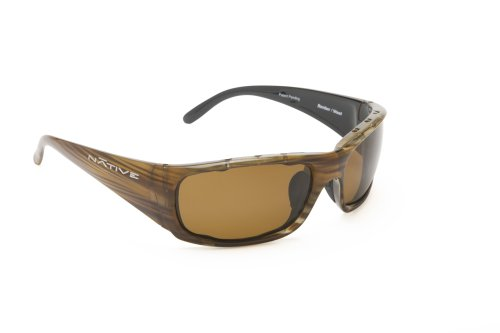 Bomber Wood (Native Eyewear Bomber Sunglasses, Wood with Brown Lens)