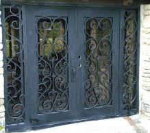 Merveilleux 62u0026quot; X 81u0026quot; Wrought Iron Entry Doors With ...
