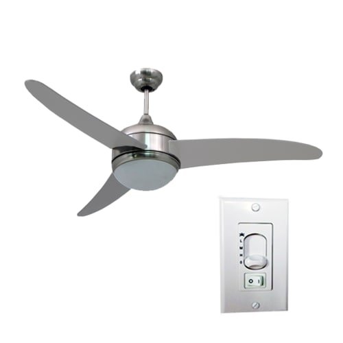 """HomeSelects International 52"""" Contempo 3 Blade Ceiling Fan w"""
