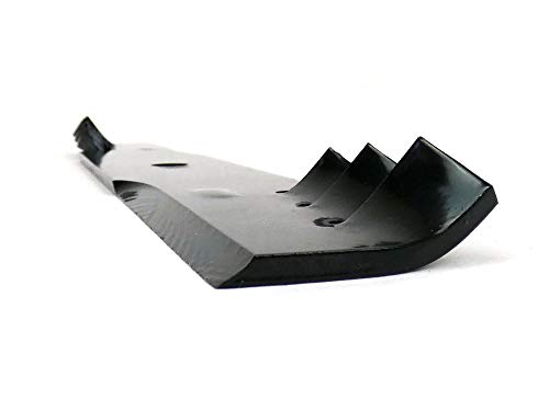 USA Mower Blades (6 CMB022BP Toothed High Lift Blade Fit Scag Husqvarna Toro 48108 481707 481711 48185 482462 Length 18in. Width 2 1/2in. Thickness .240in. Center Hole 5/8in. 36 50 52 54in. Deck