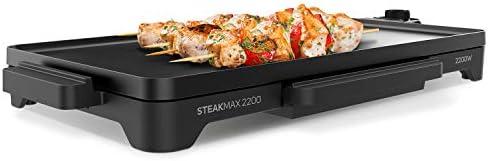 Taurus Steakmax 2200 Plancha à griller, W, surface anti-adhésive, noir