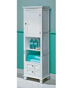 Modern White Floor Standing Tall Bathroom Cabinet: Amazon.co.uk ...