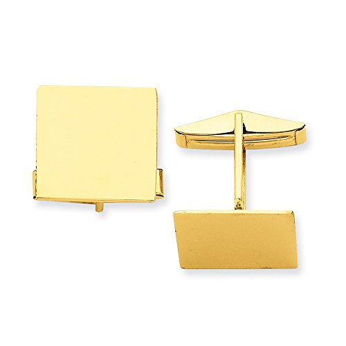 14K Square Cuff Links by CoutureJewelers