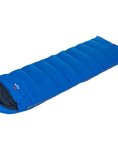 Schlafsack Rechteckiger Schlafsack Einzelbett(150 x 200 cm) -5? Hohlbaumwolle / Enten Qualitätsdaune 600g 220X75 Reisen Wasserdicht