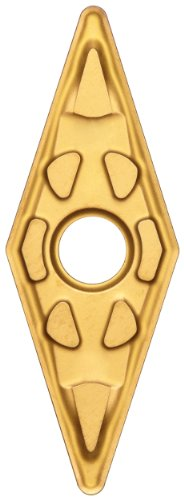 (Sandvik Coromant T-Max P Carbide Turning Insert, VNMG, 35 Degree Diamond, MF Chipbreaker, GC2015 Grade, Multi-Layer Coating, VNMG 332-MF, 3/8