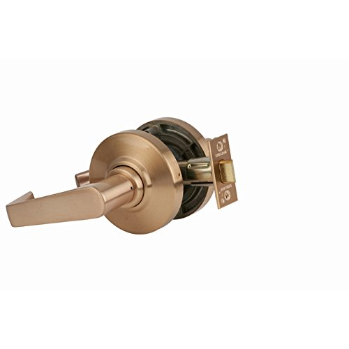 Schlage commercial AL10SAT612 AL Series Grade 2 Cylindrical Lock, Passage Function, Saturn Lever Design, Satin Bronze Finish by Schlage Lock Company