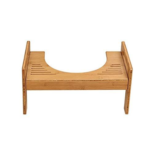 Taburete del inodoro, taburete del baño y apoyo para el entrenamiento del baño. Ajustable Madera de bambú natural con...