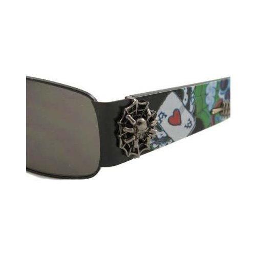 - Ed Hardy Catcher Sunglasses Ehs-041 Black Grey