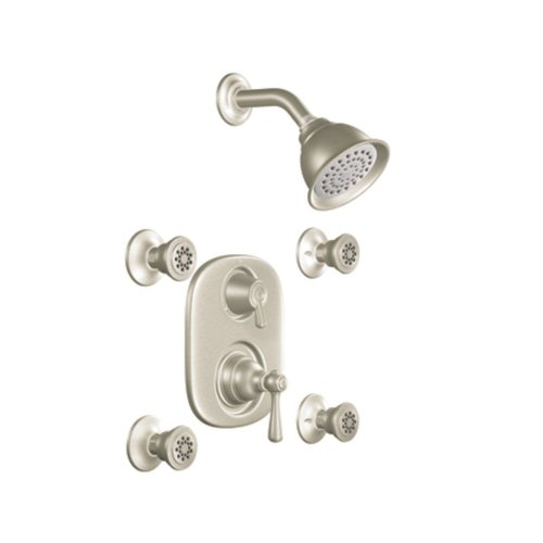 Moen KSPKI-SB-263BN Kingsley Vertical Spa Kit with Shower, Head, Arm, and Flange, Brushed ()