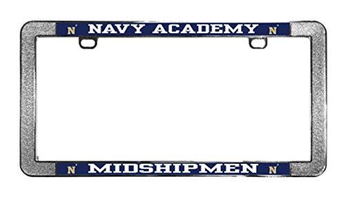Naval Car Academy - Wincraft United States Navy Midshipmen Metal License Plate Frame, Thin Rim