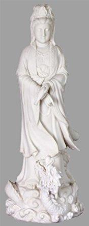 Larghe Quan Yin on Dragon Statue - Ships Immediatly !