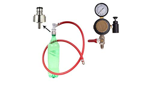 Soda Carbonating Kit, 20 Oz Regulator, with SS Carbonation Cap, NO Co2 BOTTLE,