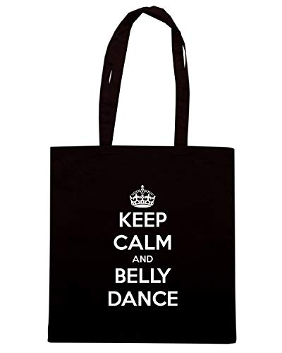 Shirt TKC0868 Speed CALM DANCE KEEP BELLY Borsa AND Shopper Nera ZOgqId