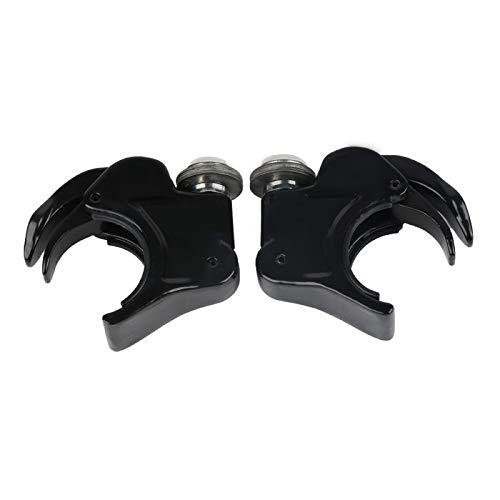 Supports de Pare-Brise 49mm pour Harley-Davidson Dyna Street Bob 06-17 Noir