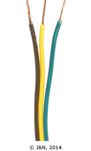 600-16012-100 - J&N, Bonded Parallel Wire, 3 Conductors, 16 Gauge Wire, GPT, 100ft / 30.5m L - Pack of 100 ()